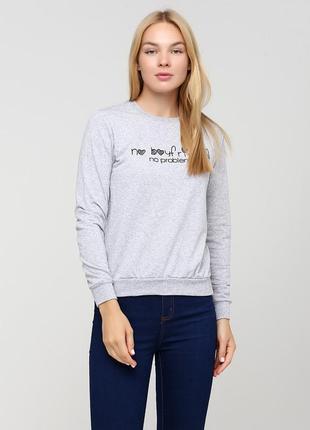 Женский реглан buse-1003-светло-серый