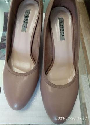 Кожаные туфли 25 см.
