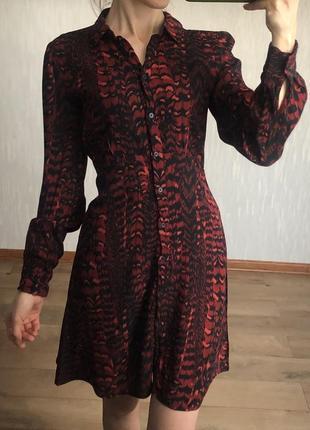 Платье-рубашка warehouse ,размер xs