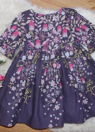 Очень красивое нежное платье next на 9-12мес и дольше