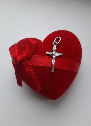 Маленький серебряный крестик 925*