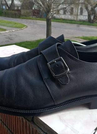 Стильные кожаные туфли tiger 45 разм