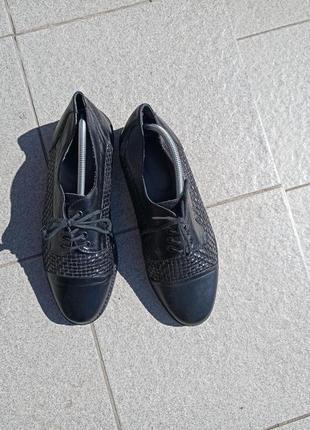 Стильные кожаные туфли 40-41