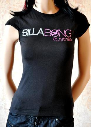 Красивая, черная футболка - billabong. 36/38 размер 100% коттон