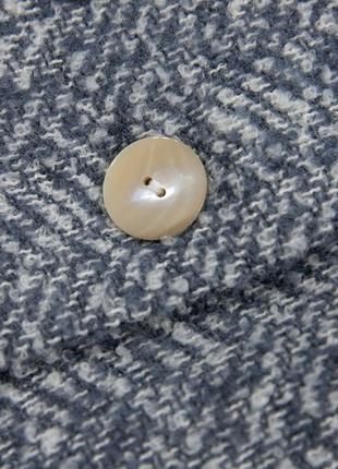 Двубортное пальто с фактурной выделкой mango6 фото