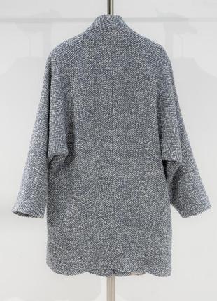 Двубортное пальто с фактурной выделкой mango10 фото