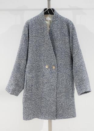 Двубортное пальто с фактурной выделкой mango9 фото