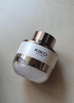 Фиксирующая и матирующая пудра для лица kiko milano invisible touch face fixing powder