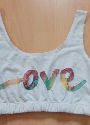 Топ с надписью love от river island