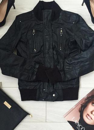 Куртка bershka из натуральной кожи