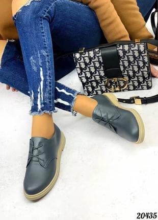 Туфли кожаные , шнурки3 фото