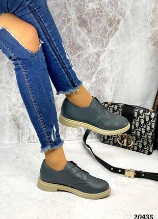 Туфли кожаные , шнурки4 фото