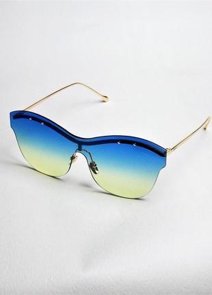 Солнцезащитные очки женские желто голубые