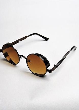 Очки солнцезащитные dr 1517 коричневые бронза круглые тишейды