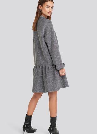 Срібне плаття вільного крою з люрексом na-kd2 фото