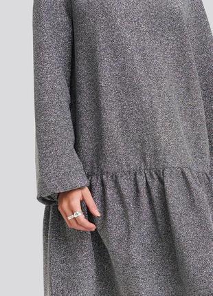 Срібне плаття вільного крою з люрексом na-kd3 фото