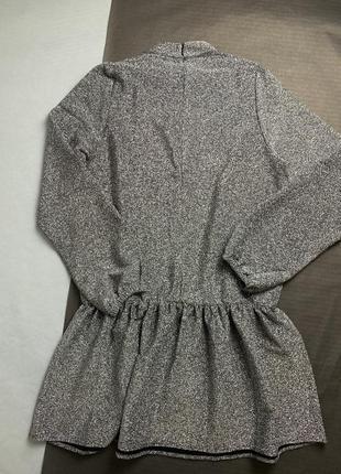 Срібне плаття вільного крою з люрексом na-kd6 фото