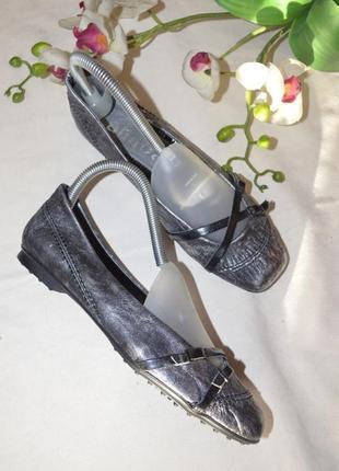 Кожаные туфли балетки оригинальная италия amica