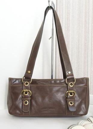 Кожаная сумка gerry weber. натуральная кожа