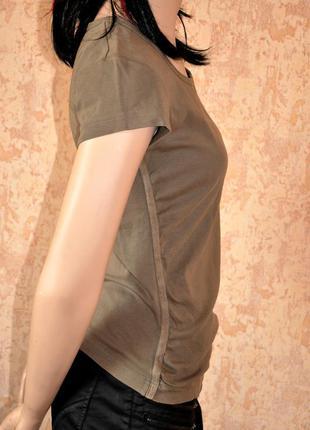 Красивая футболка цвета хаки - esprit. 38/42 размер 100% коттон