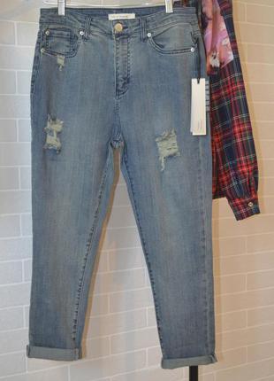 Крутые рваные джинсы бойфренд
