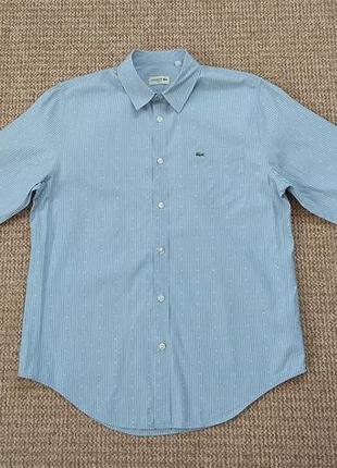 Lacoste рубашка slim fit оригинал (l)