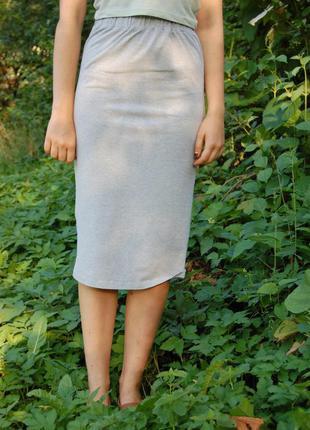 Базовая миди юбка