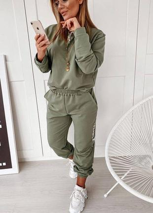 Костюм owersize 4 цвета, женский костюм, спортивный костюм, стильный костюм (арт 100224)