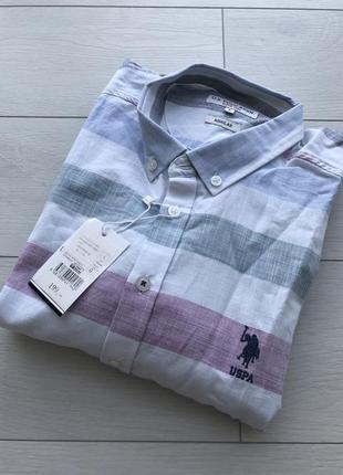 Мужская рубашка в полоску uspa