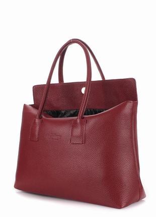 Кожаная сумка poolparty - sense marsala