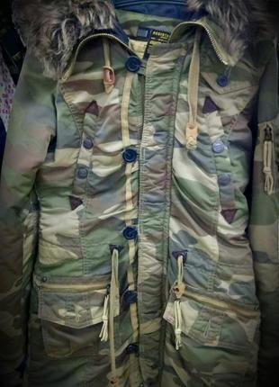Khujo. женское пальто, куртка, парка милитари, камуфляж