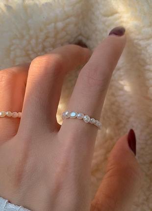 Кольцо з натуральних перлин / кольцо из натурального жемчуга