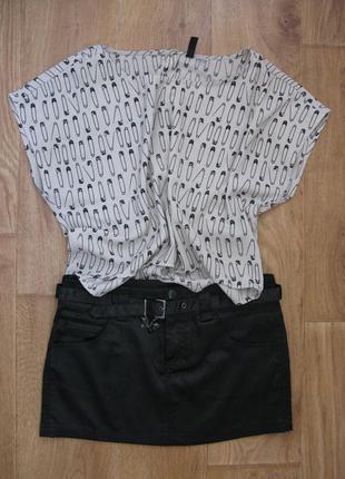 Черная юбка jennyfer