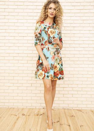 Платье 167r86 цвет бирюзовый