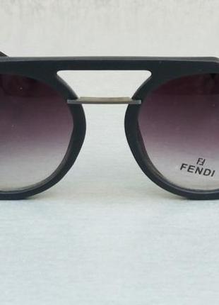 Fendi очки женские солнцезащитные с боковыми защитными шторками с градиентом черные2 фото