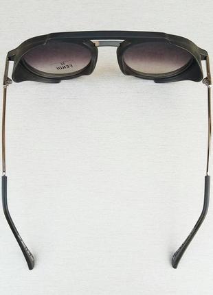Fendi очки женские солнцезащитные с боковыми защитными шторками с градиентом черные5 фото