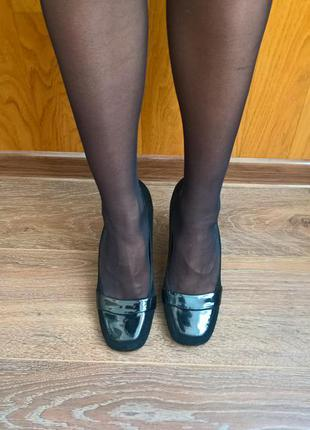 Замшевые черные туфельки