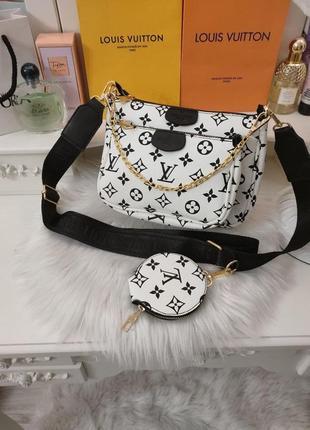 Сумочка женская в стиле louis vuitton multi pochette 3в1 клатч сумка луи витон