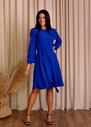 Платье(ярко - синее)