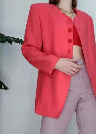 Яркий винтжный блейзер жакет пиджак винтаж франция