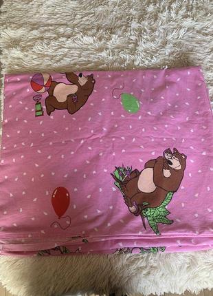 Комплект постельного белья маша и медведь