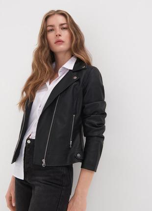 Куртка женская демисезонная экокожа новая sinsay польша, размер l, xl