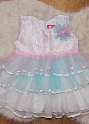 Нарядное пышное платье qal на 1-2г
