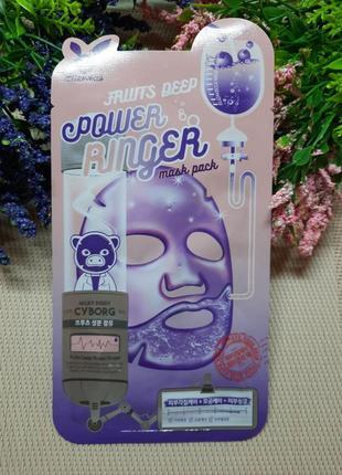 Тканевая маска для лица с фруктовым комплексом и кислотами elizavecca