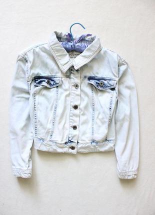 Стильная джинсовая куртка пиджак fitt originals