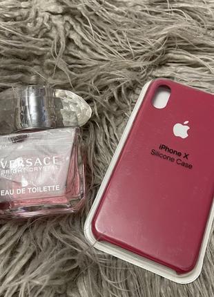 Чехол silicone case для iphone 10 айфон x