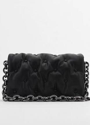 Женская черная сумка как зара
