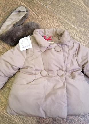Куртка детская zara baby girl 6-9 мес