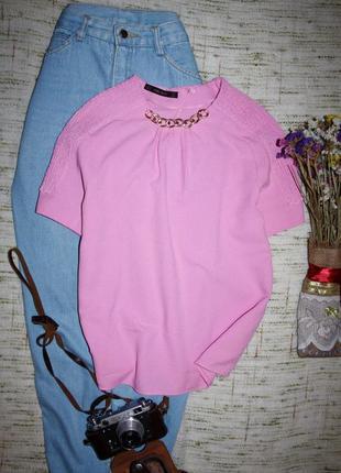 Красивая блузка от zara. блуза с цепочкой