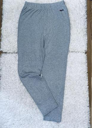 Спортивные серые штаны  оригинал fila  котон высокая посадка